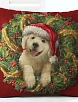 abordables -Housse de coussin / Noël Vacances Tissu Rectangulaire Nouveautés Décoration de Noël