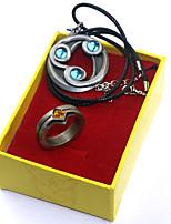 billiga -Mer accessoarer Inspirerad av Cosplay Cosplay Animé Cosplay-tillbehör 1 Halsband / 1 Ring Legering Halloweenkostymer