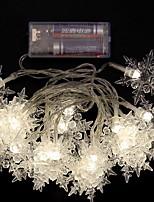Недорогие -2м Гирлянды 20 светодиоды Тёплый белый / Белый / Синий Декоративная / Cool Аккумуляторы AA