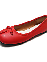 Недорогие -Жен. Комфортная обувь Полиуретан Осень На каждый день На плокой подошве На плоской подошве Бант Черный / Желтый / Красный