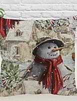 baratos -Cobertura de Almofada Natal Tecido de Algodão Quadrada Desenho Animado Decoração de Natal