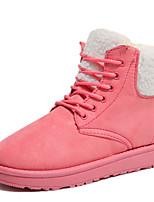 Недорогие -Жен. Комфортная обувь Замша Зима На каждый день Ботинки На плоской подошве Черный / Бежевый / Розовый