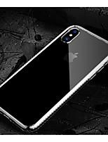 Недорогие -Кейс для Назначение Apple iPhone X Защита от пыли Кейс на заднюю панель Однотонный Мягкий ТПУ / Акрил для iPhone X