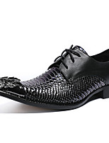 Недорогие -Муж. Официальная обувь Наппа Leather Осень Английский Туфли на шнуровке Нескользкий Черный / Для вечеринки / ужина