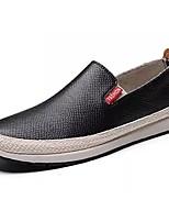 Недорогие -Муж. Комфортная обувь Полиуретан Осень Мокасины и Свитер Черный / Синий