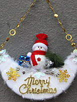 baratos -Ornamentos Natal / Desenho Plástico / PVC Rectângular Novidades Decoração de Natal