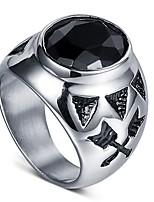 cheap -Men's Black Gemstone Vintage Style Solitaire Ring - Resin Creative, Arrow Stylish, Vintage 8 / 9 / 10 / 11 Black For Street Club