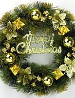 baratos -Enfeites de Natal Férias PVC Redonda Festa / Novidades Decoração de Natal