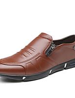 abordables -Homme Chaussures de confort Polyuréthane Automne Business Mocassins et Chaussons+D6148 Preuve de l'usure Noir / Marron