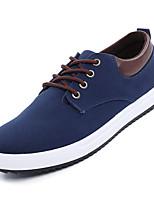 Недорогие -Муж. Комфортная обувь Полотно Осень На каждый день Кеды Нескользкий Контрастных цветов Черный / Темно-синий / Серый