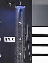 Недорогие -Смеситель для душа - Современный Хром Душевая система Керамический клапан