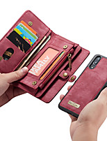 billiga -CaseMe fodral Till Huawei P20 Pro / P20 lite Plånbok / Korthållare / Lucka Fodral Enfärgad Hårt PU läder för Huawei P20 / Huawei P20 Pro / Huawei P20 lite