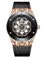 Недорогие -Tevise Муж. Механические часы Японский С автоподзаводом 30 m Защита от влаги Фосфоресцирующий Cool Натуральная кожа Группа Аналоговый На каждый день Мода Черный / Коричневый -