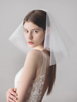 Недорогие -Два слоя Старинный / Классический Свадебные вуали Короткая фата с Однотонные Тюль