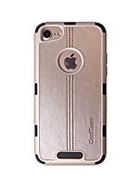 Недорогие -Кейс для Назначение Apple iPhone 6 Plus Защита от удара Кейс на заднюю панель Однотонный / Полосы / волосы Твердый ТПУ для iPhone 6s Plus / iPhone 6 Plus