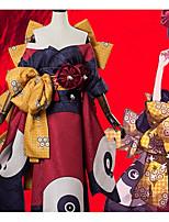 abordables -Inspiré par Fate / zero Cosplay Manga Costumes de Cosplay Costumes Cosplay Fleur Nœud papillon / Veste Kimono / Coiffure Pour Femme Déguisement d'Halloween