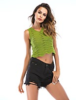 cheap -Women's Scoop Neck Sexy / See Through Yoga Top - Black, Green, Violet Sports Solid Color Tank Top / Top Yoga, Fitness, Gym Activewear Quick Dry, Breathable, Sweat-wicking Micro-elastic Slim