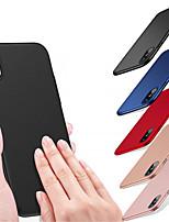 Недорогие -Кейс для Назначение Apple iPhone XR / iPhone XS Max Матовое Кейс на заднюю панель Однотонный Твердый ПК для iPhone XS / iPhone XR / iPhone XS Max