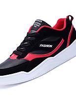Недорогие -Муж. Комфортная обувь Полиуретан Осень На каждый день Кеды Нескользкий Черный / Черно-белый