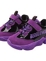 Недорогие -Девочки Обувь Полиуретан Наступила зима Удобная обувь Спортивная обувь Для прогулок Пряжки для Дети Черный / Лиловый / Пурпурный