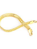 abordables -Homme Classique Chaînes & Bracelets Manchettes Bracelets - Acier inoxydable Créatif simple, Branché, Hip-Hop Bracelet Or / Noir / Argent Pour Quotidien Plein Air