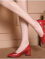 abordables -Femme Chaussures de confort Cuir Nappa Printemps Chaussures à Talons Talon Bottier Blanc / Noir / Rouge