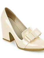 Недорогие -Жен. Комфортная обувь Лакированная кожа Осень Обувь на каблуках На толстом каблуке Черный / Бежевый / Вино