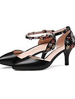 Недорогие -Жен. Балетки Наппа Leather Весна Обувь на каблуках На шпильке Черный / Бежевый / Светло-синий