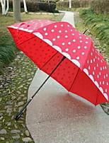 Недорогие -Ткань / Нержавеющая сталь Девочки Солнечный и дождливой / Новый дизайн Зонт-трость