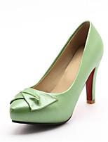 Недорогие -Жен. Балетки Сатин / Наппа Leather Весна Обувь на каблуках На шпильке Телесный