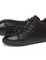 Недорогие -Муж. Комфортная обувь Замша Зима На каждый день Кеды Черный
