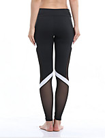 preiswerte -Damen Alltag Sportlich Legging - Einfarbig Mittlere Taillenlinie