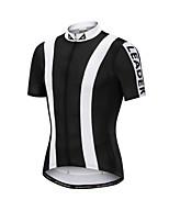 Недорогие -Nuckily Муж. С короткими рукавами Велокофты - Черный Мода Велоспорт Джерси, Велоспорт, Лето, Полиэстер / Быстровысыхающий / Дышащий / Быстровысыхающий / Дышащий / SBS молнии