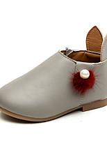 billiga -Flickor Skor Läder Vår & Höst Komfort / Brudnäbbsskor Platta för Barn / Småbarn Beige / Grå / Rosa