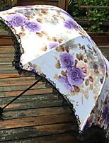 Недорогие -Нержавеющая сталь Все Солнечный и дождливой / Милый Складные зонты