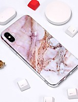 baratos -Capinha Para Apple iPhone XR / iPhone XS Max Estampada Capa traseira Mármore Macia TPU para iPhone XS / iPhone XR / iPhone XS Max
