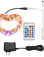cheap -ZDM® 10m Light Sets 100 LEDs SMD 0603 1 24Keys Remote Controller / 1 x 12V / 1A Adapter Warm White / Cold White / Red Waterproof / Decorative 100-240 V 1 set