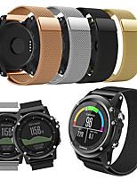 baratos -Pulseiras de Relógio para Fenix 3 Garmin Pulseira Estilo Milanês Aço Inoxidável Tira de Pulso