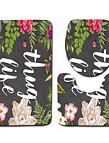 Недорогие -3 предмета Modern Коврики для ванны 100 г / м2 полиэфирный стреч-трикотаж Креатив / Цветочный принт нерегулярный Новый дизайн