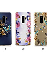 abordables -Coque Pour Samsung Galaxy S9 Plus / S8 Plus Ultrafine / Transparente / Motif Coque Papillon Flexible TPU pour S9 / S9 Plus / S8 Plus