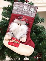 baratos -Meias de Natal Natal Tecido Não-Tecelado Quadrada Decoração de Natal