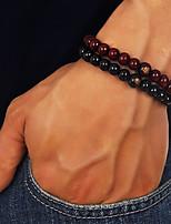 Недорогие -Муж. Ретро Strand Браслеты - Креатив Мода, Шинуазери (китайский стиль) Браслеты Черный / Коричневый Назначение Повседневные День рождения