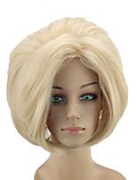 abordables -Perruque Synthétique Droit Blond Partie médiane Cheveux Synthétiques 12 pouce Ajustable / Résistant à la chaleur / Homme Blond Perruque Femme Court Sans bonnet Blond