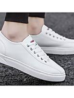 Недорогие -Муж. Комфортная обувь Полотно Весна & осень Кеды Белый / Черный / Серый