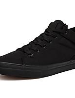 Недорогие -Муж. Комфортная обувь Полотно Наступила зима На каждый день Кеды Нескользкий Белый / Черный
