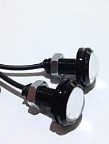 abordables -2pcs feux de jour source sauvegarde inversion lampe de signalisation de stationnement étanche 23mm led œil d'aigle