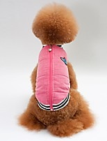 cheap -Dogs / Cats Coat / Vest Dog Clothes Solid Colored Pink Cotton Costume For Pets Unisex Warm Ups / Casual / Sporty