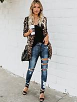 Недорогие -женский тонкий плащ - леопард