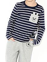 Недорогие -Дети / Дети (1-4 лет) Мальчики С принтом Длинный рукав Блуза