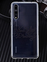 cheap -Case For Huawei P20 / P20 Pro Ultra-thin / Transparent / Pattern Back Cover Word / Phrase Soft TPU for Huawei P20 / Huawei P20 Pro / Huawei P20 lite